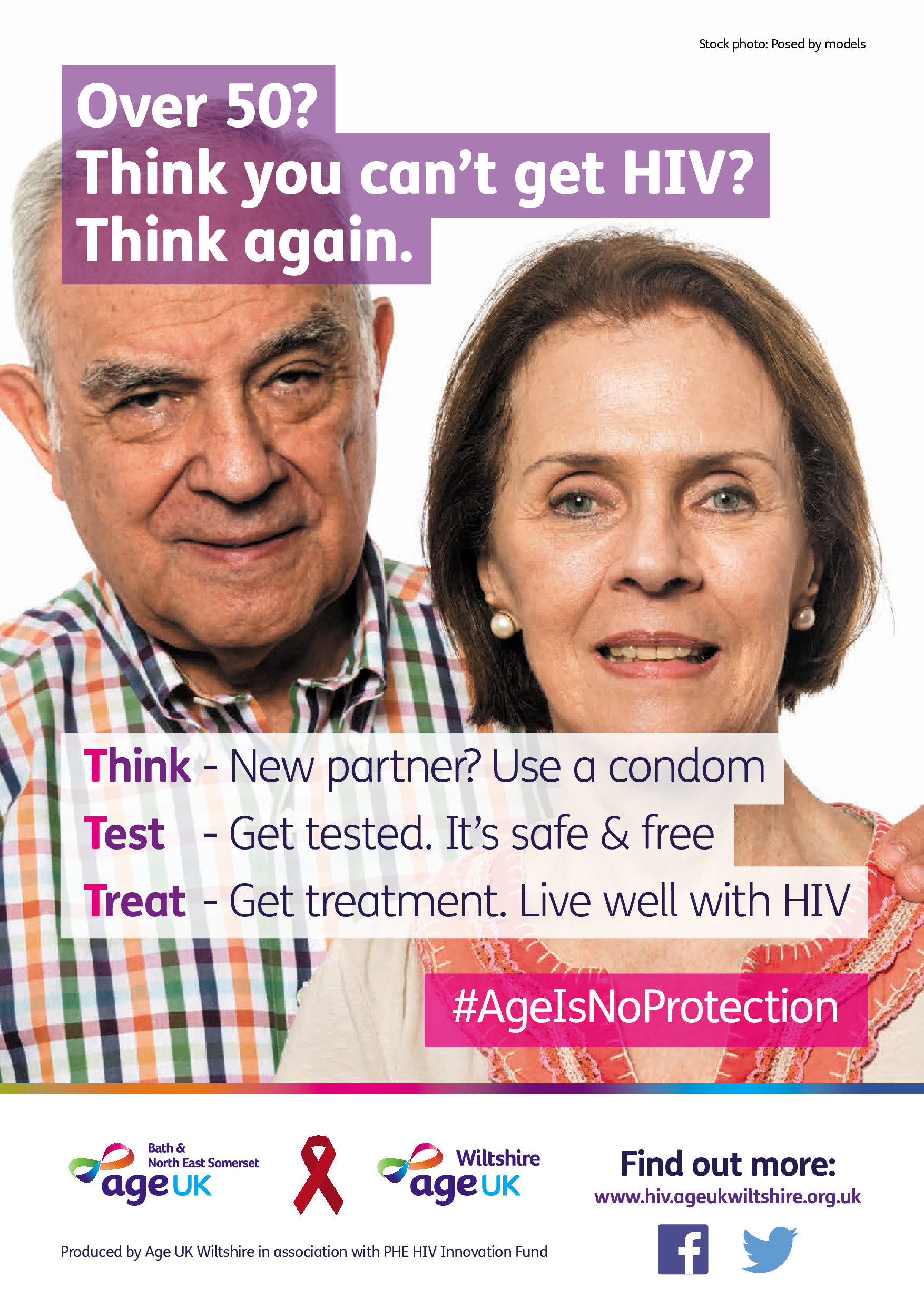 Age UK HIV poster